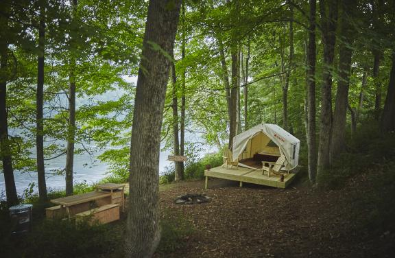 Glamping Tent by River's Edge