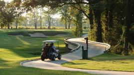 Golf Cart on path at Black Bear Golf Course