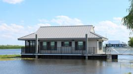 Over-the-water cabins at Bayou Segnette State park