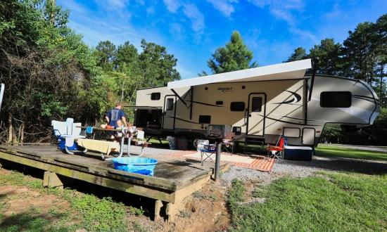 Bogue Chitto State Park - The park offers bottomland camping near the river, along with upland camping